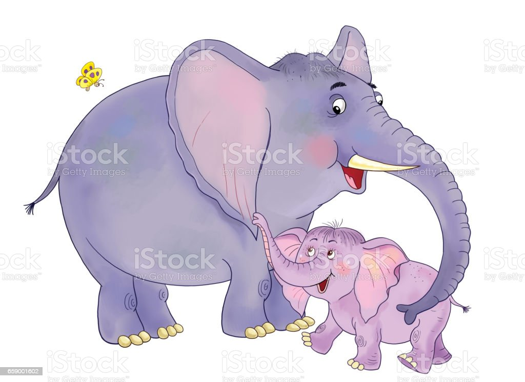 royalty free elephant family clip art vector images illustrations rh istockphoto com elephant clipart for vinyl cutter elephant clipart for kids