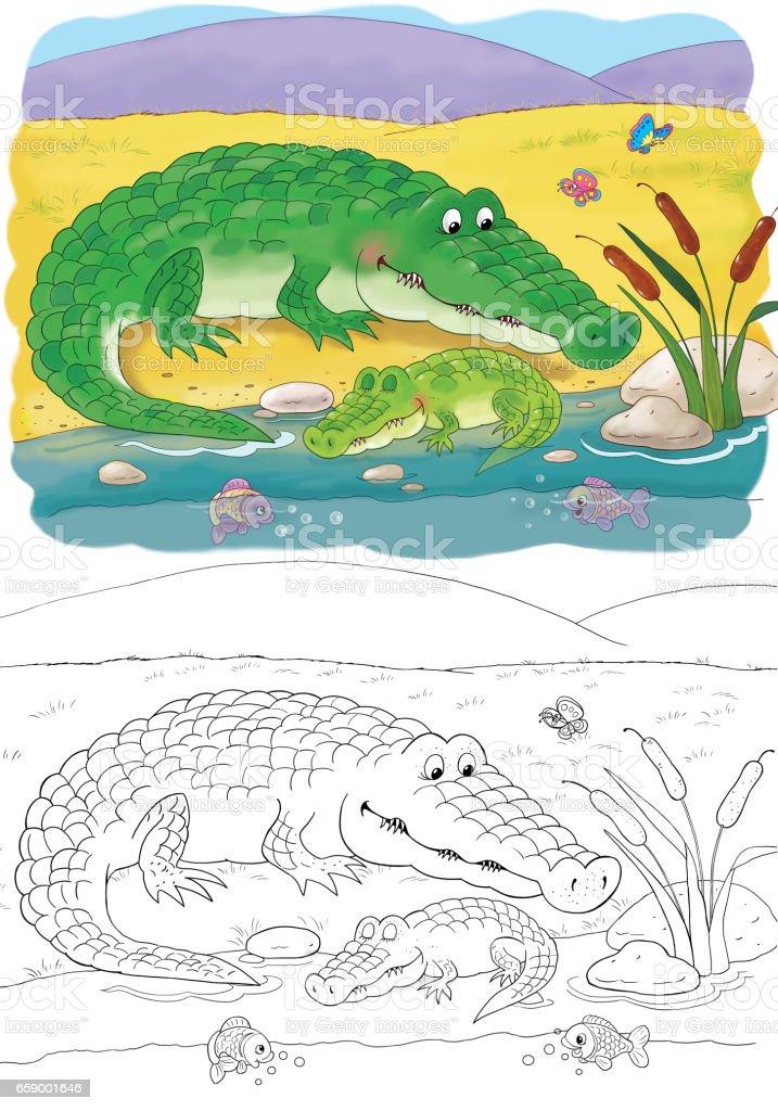 Ilustración de En El Zoológico Lindos Animales Africanos Ilustración ...