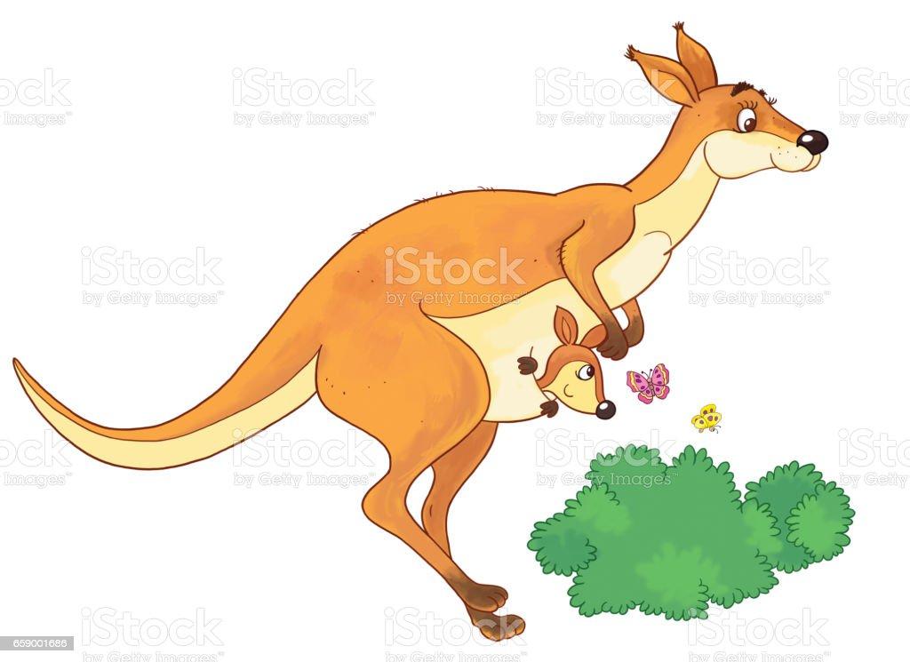 Kleurplaten Dieren Van De Zoo.In De Dierentuin Schattige Australische Dieren Illustratie Voor