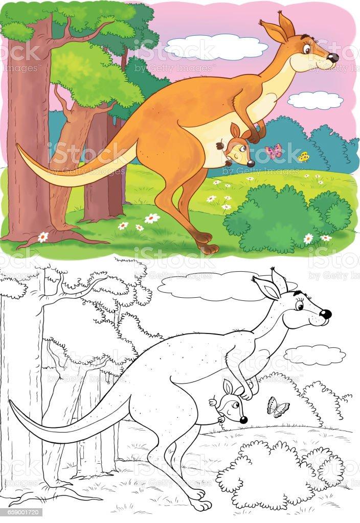 Hayvanat Bahcesinde Sevimli Hayvanlar Avustralya Cizim Cocuklar