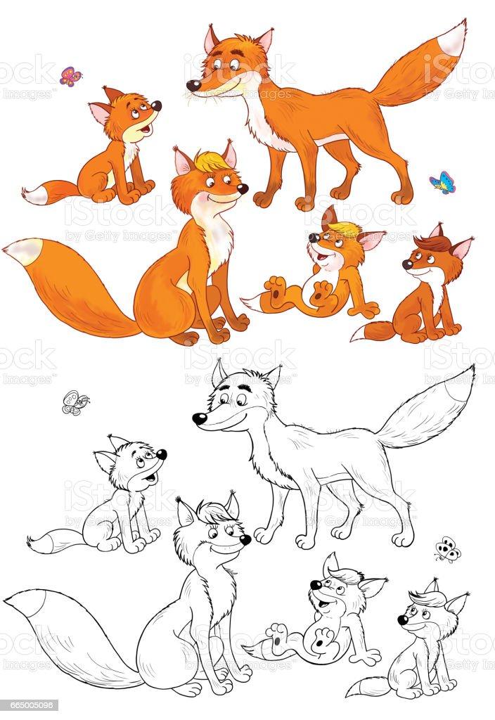 Ilustración De En El Zoológico Lindos Animales Del Bosque