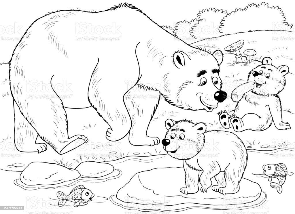 Hayvanat Bahcesinde Sevimli Orman Hayvanlar Cizim Cocuklar Icin