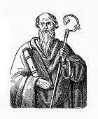Illustration of Athanasius of Alexandria (c.298-373), Bishop of Alexandria