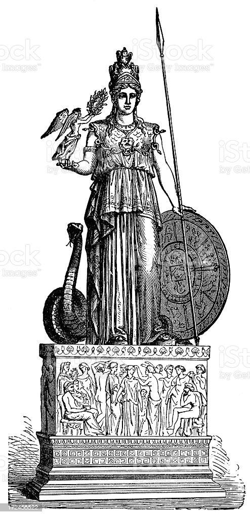 Athena vector art illustration