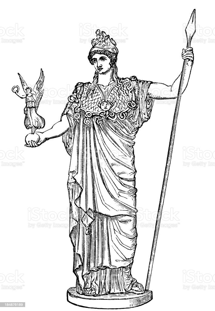 Athena/Minerva, Greco-Roman goddess royalty-free athenaminerva grecoroman goddess stock vector art & more images of adult