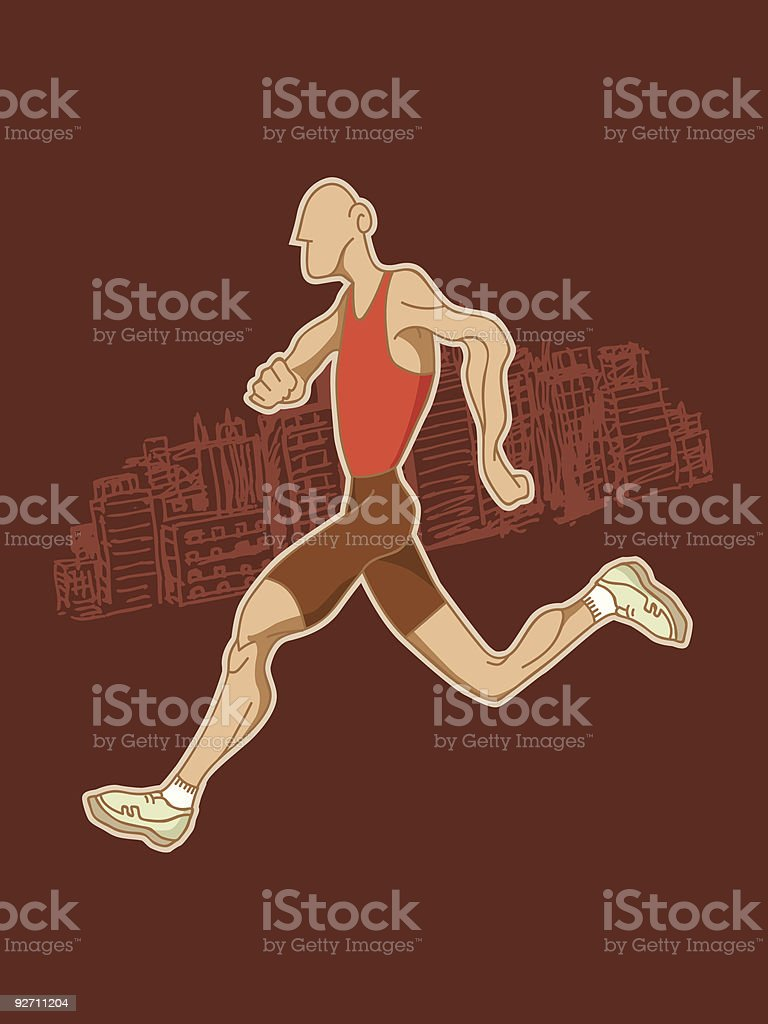Athlete running royalty-free athlete running stock vector art & more images of adult