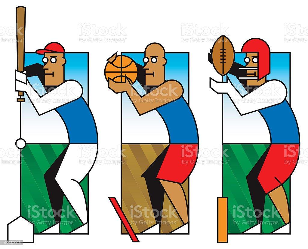 athletes royalty-free stock vector art
