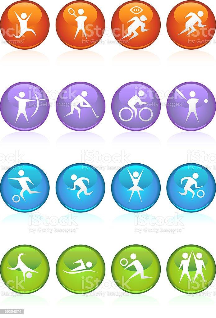 Athletic okrągły Błyszczący przyciski athletic okrągły błyszczący przyciski - stockowe grafiki wektorowe i więcej obrazów balet royalty-free