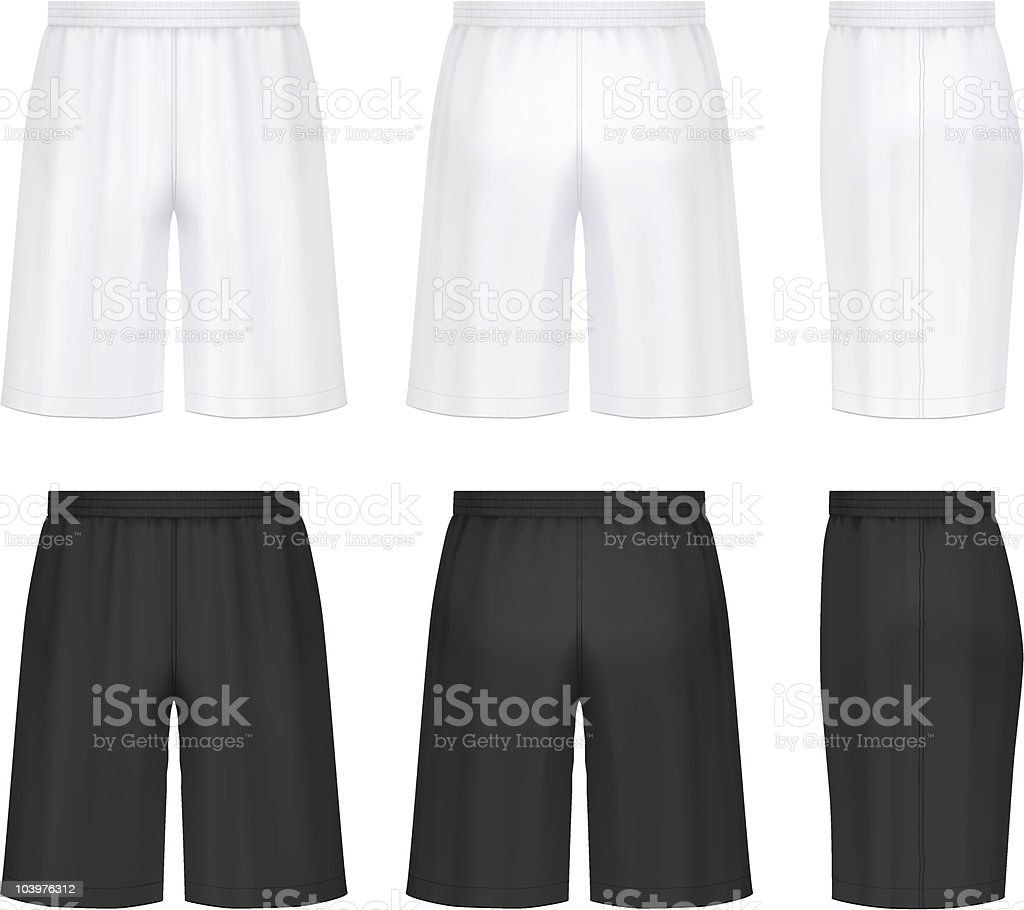 Athletic shorts royalty-free athletic shorts stock vector art & more images of black color