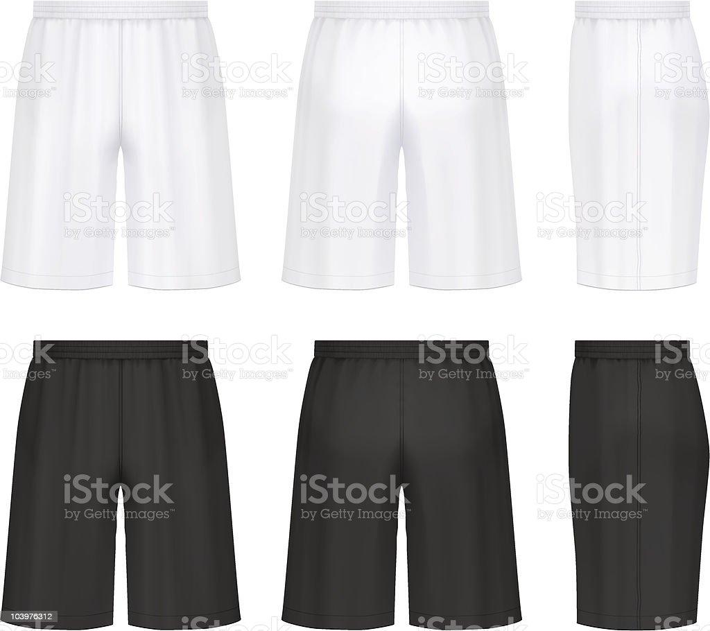 Athletic shorts vector art illustration