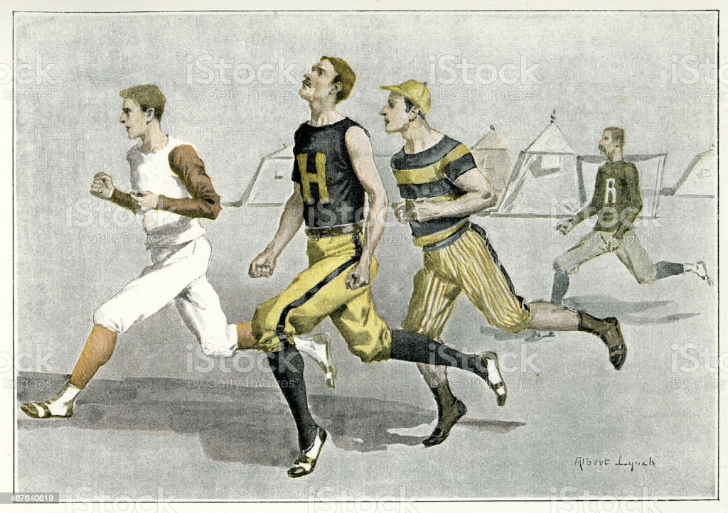 Athletics race vector art illustration