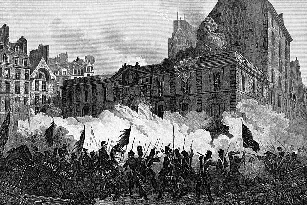illustrations, cliparts, dessins animés et icônes de attaque du palais royal pendant la révolution française - dam
