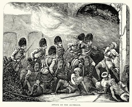 攻撃 Alambagh に - 1857年のインド大反乱のベクターアート素材や画像 ...