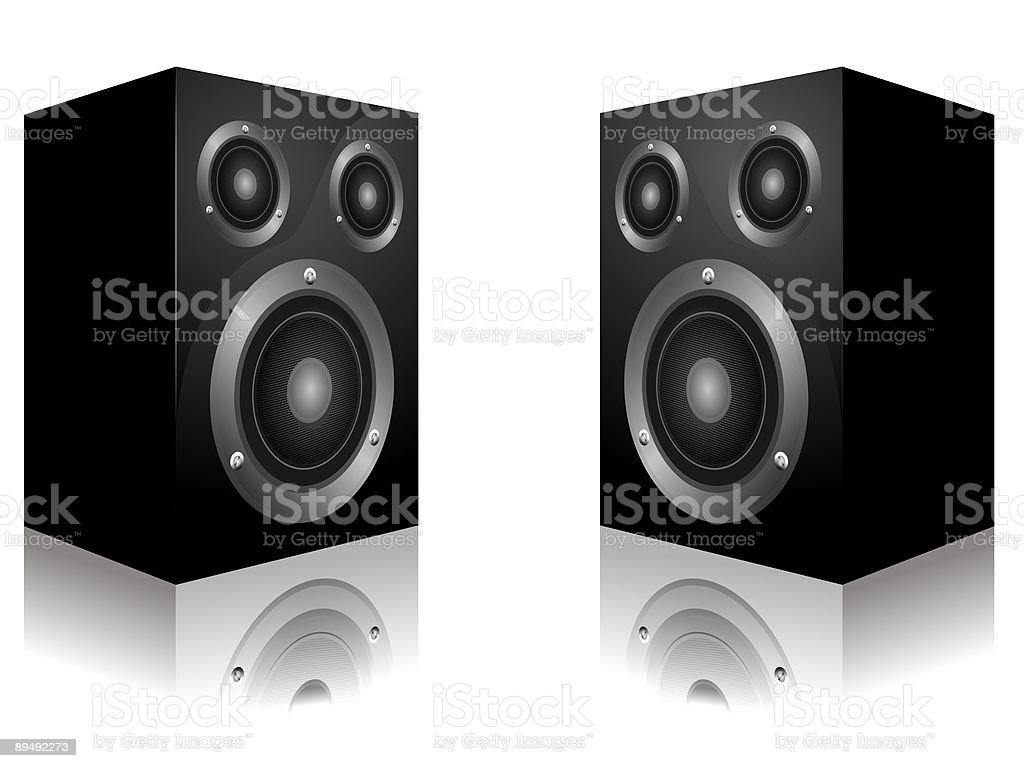 Audio speakers royalty-free stock vector art