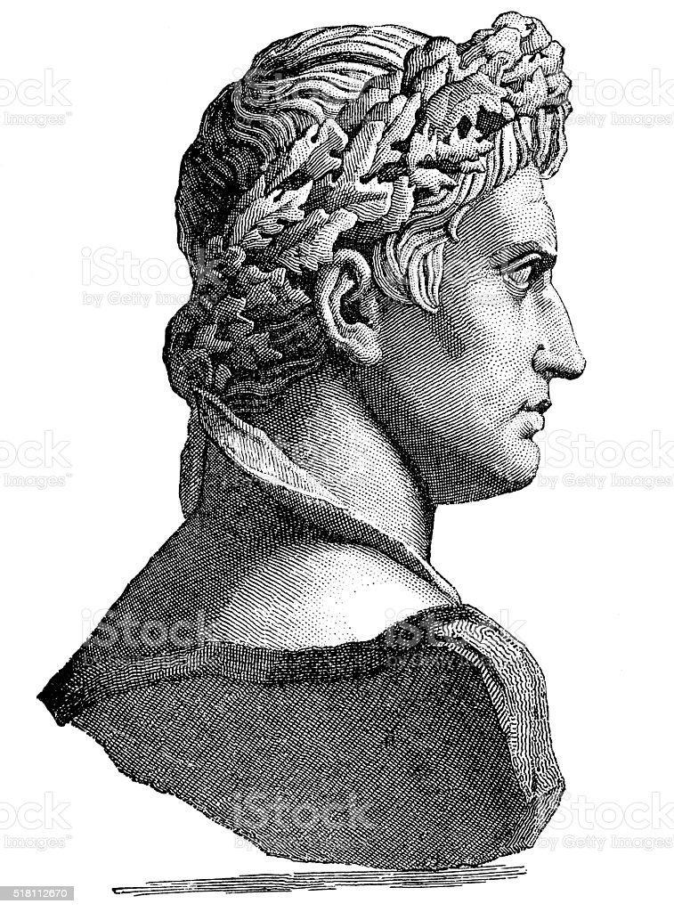 Augustus Caesar - First Emperor Of The Roman Empire vector art illustration