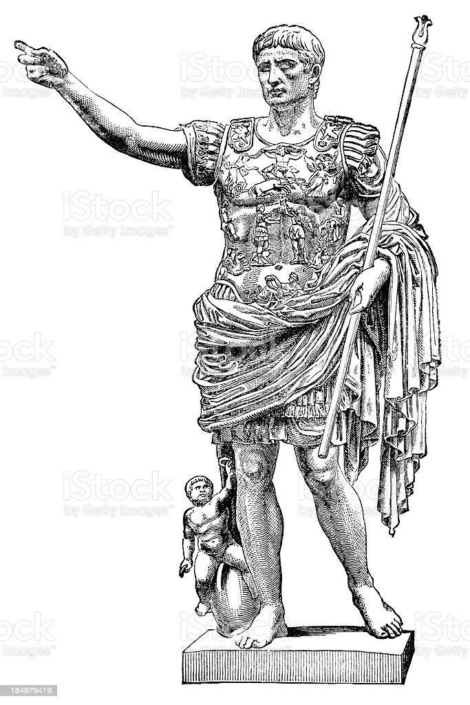 Augustus Caesar vector art illustration