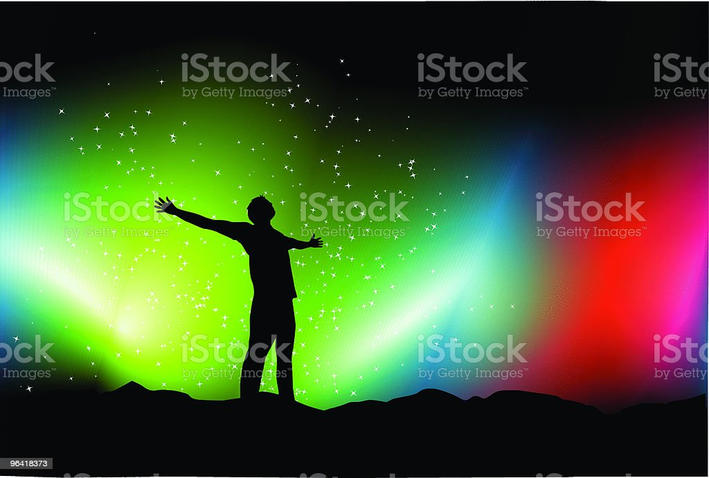 Aurora vector art illustration