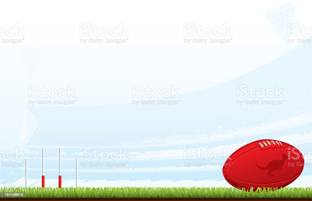 Aussie Rules background vector art illustration