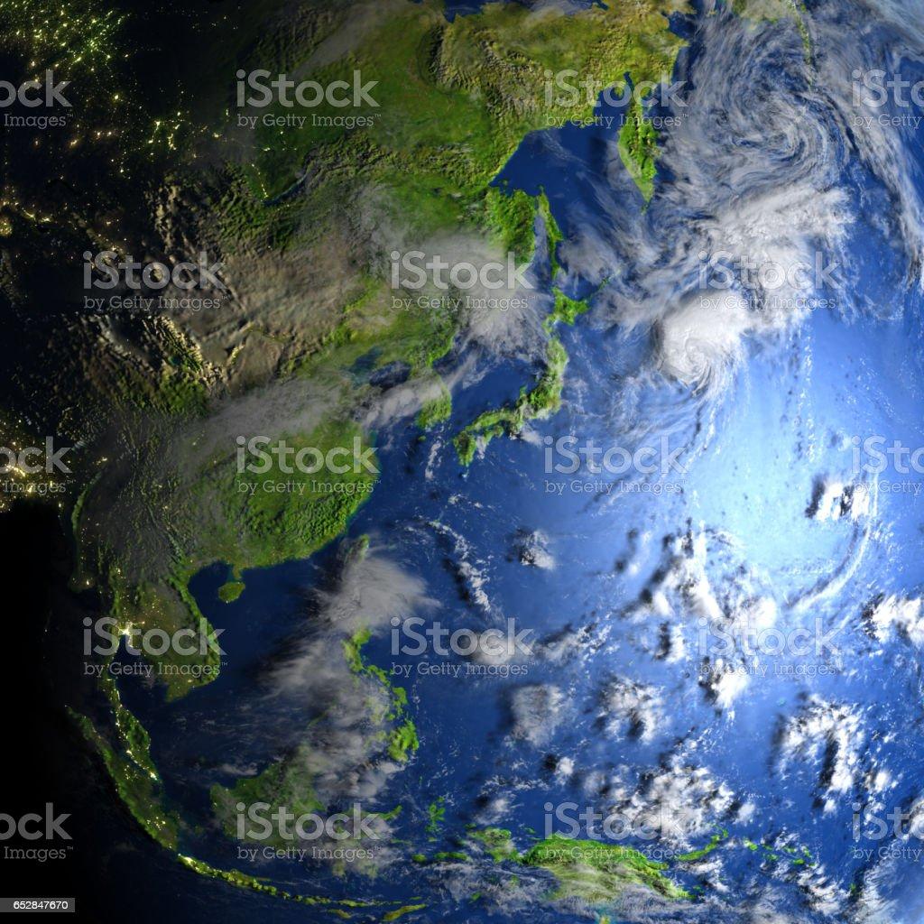 Australasia on planet Earth vector art illustration