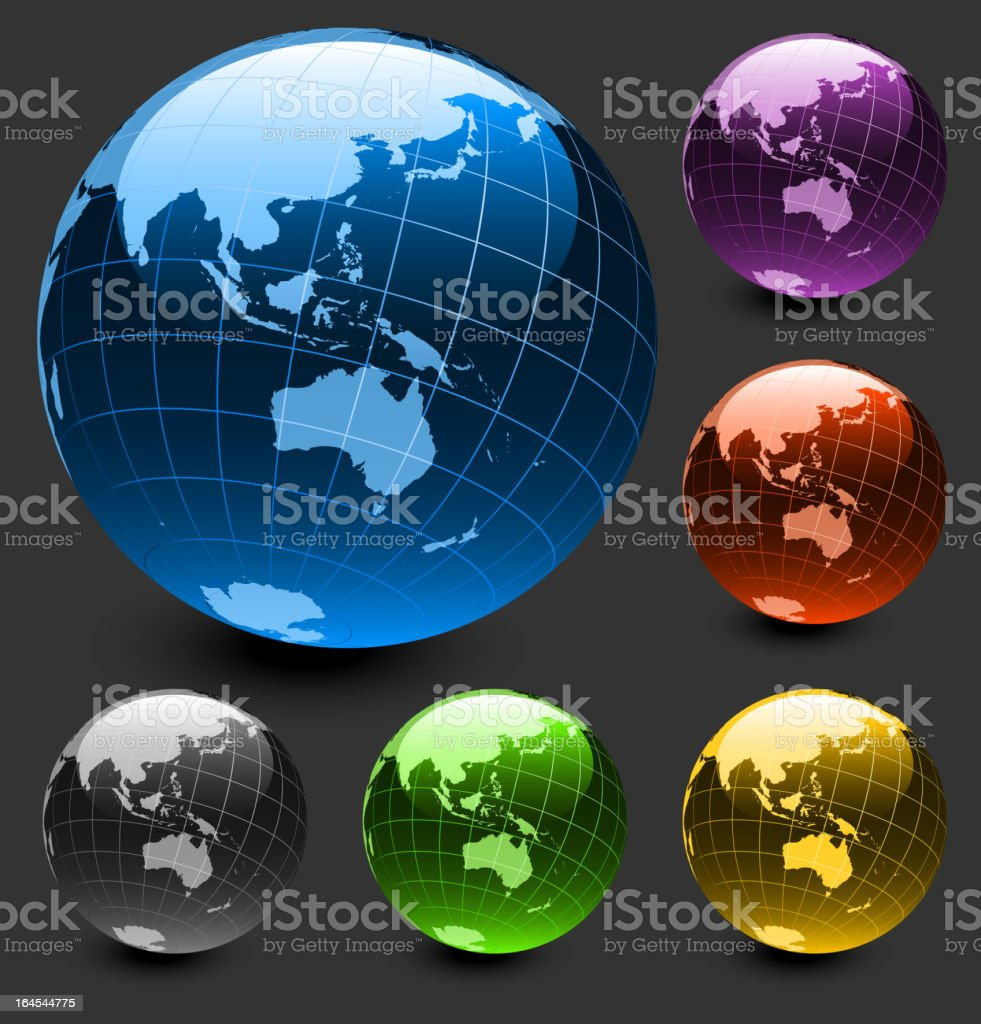 Australia globe on dark Background royalty-free australia globe on dark background stock vector art & more images of anglesea