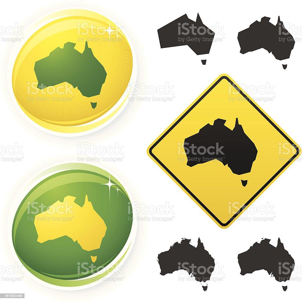 Australia icons royalty-free stock vector art