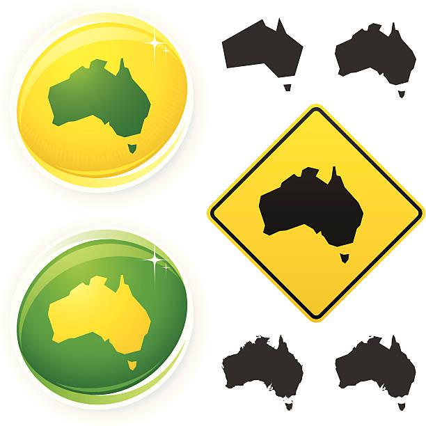 ilustraciones, imágenes clip art, dibujos animados e iconos de stock de iconos de australia - australia