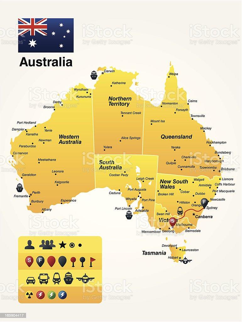 Australia royalty-free australia stock vector art & more images of adelaide