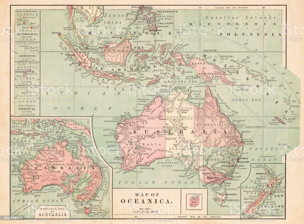 Carte Australie Malaisie.Carte Australie 1881 Vecteurs Libres De Droits Et Plus D
