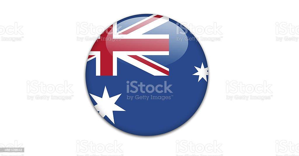 オーストラリア国旗バッジます。 ベクターアートイラスト