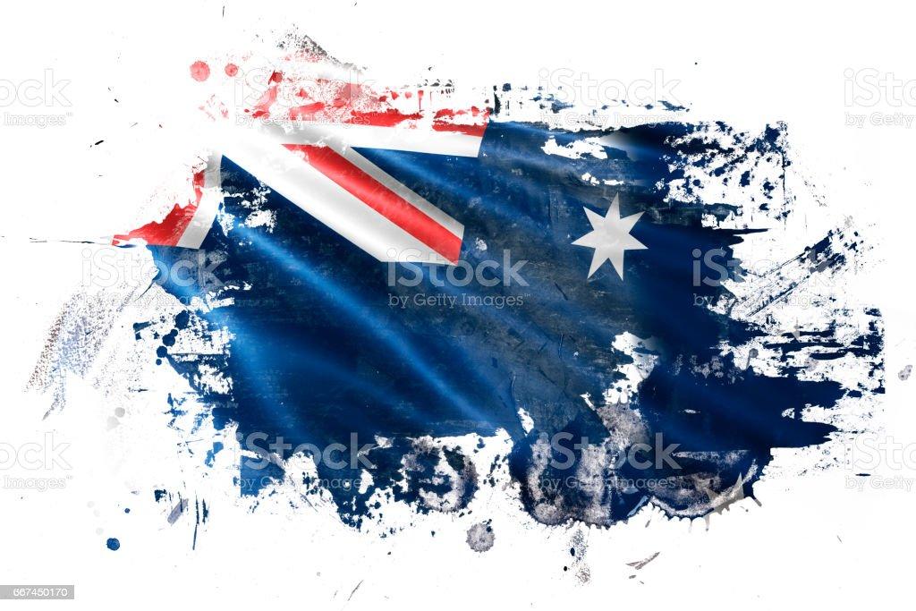 オーストラリア インク グランジ フラグ ベクターアートイラスト