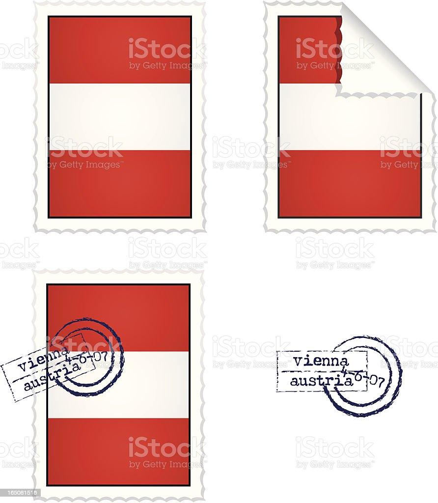 Austrian Stamp Set royalty-free stock vector art