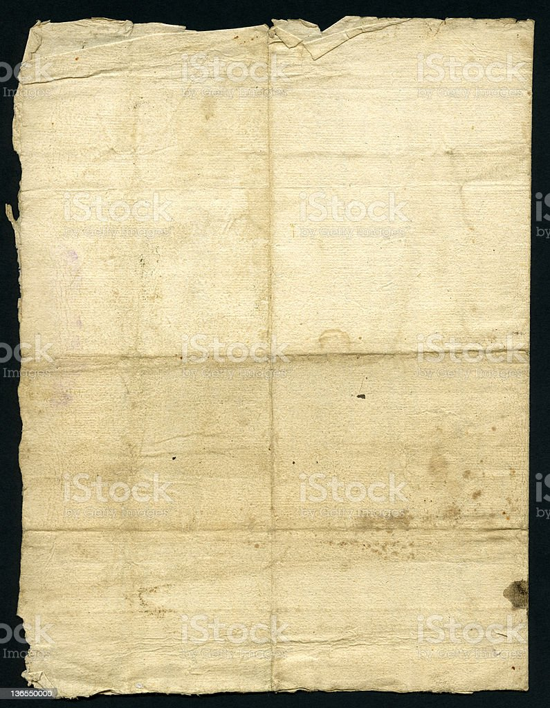 Authentic old paper 1648 (XXXL) royalty-free stock vector art