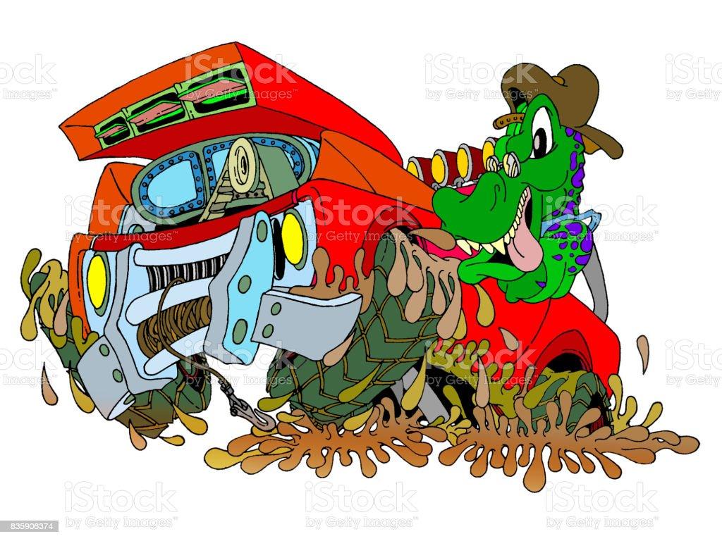 Automotive Alligator vector art illustration