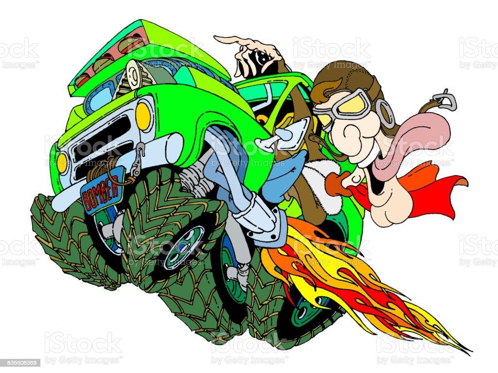 Automotive Bomber vector art illustration