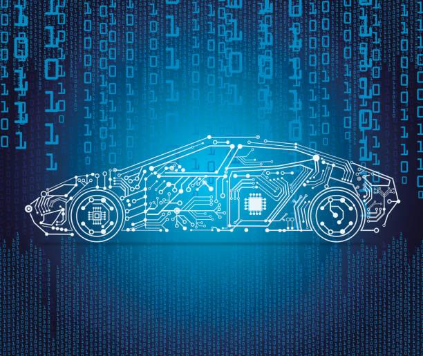 使用電動車自動駕駛 - 獨立 幅插畫檔、美工圖案、卡通及圖標