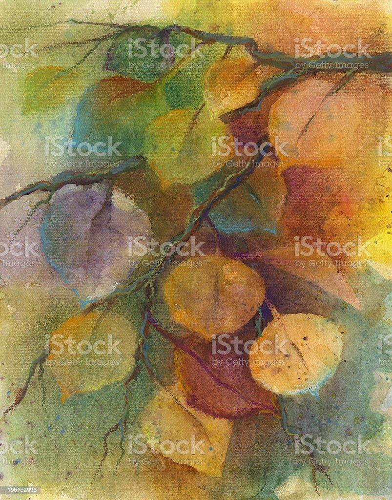 Autumn Aspen vector art illustration