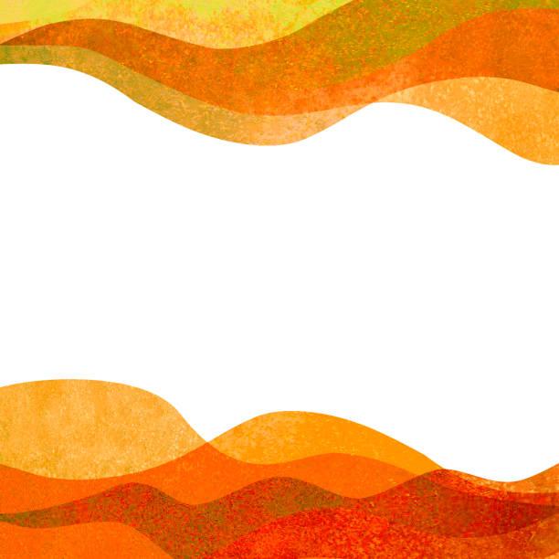 Autumn background. Watercolor transparent orange colored hand painted waves illustration Autumn background. Watercolor transparent orange colored hand painted isolated waves illustration. Watercolour banner frame backdrop splash design. Grunge color cover. Space for logo, text autumn borders stock illustrations