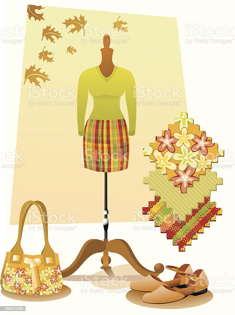 Autumn fashion royalty-free stock vector art