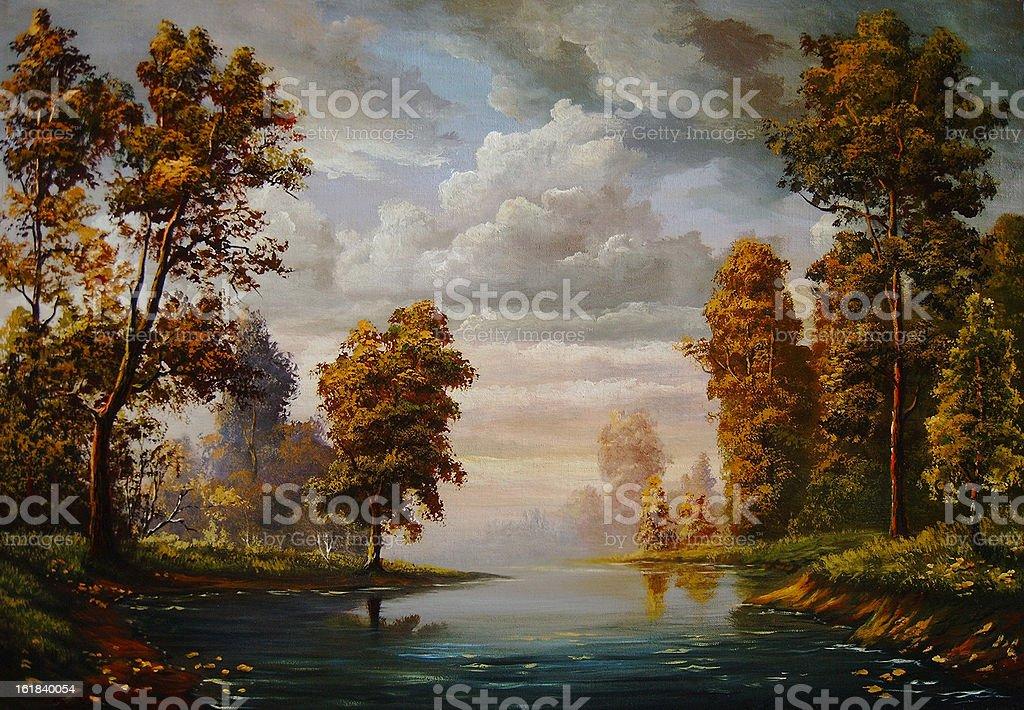 Autumn heavens royalty-free stock vector art