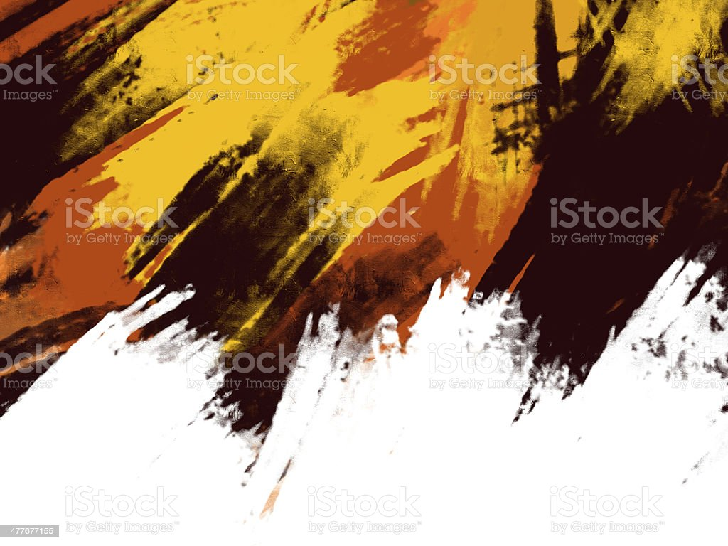 Autumn illustration rough painting style, Abstract header royalty-free stock vector art