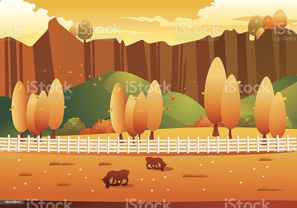Autumn Landscape royalty-free autumn landscape stock vector art & more images of agriculture