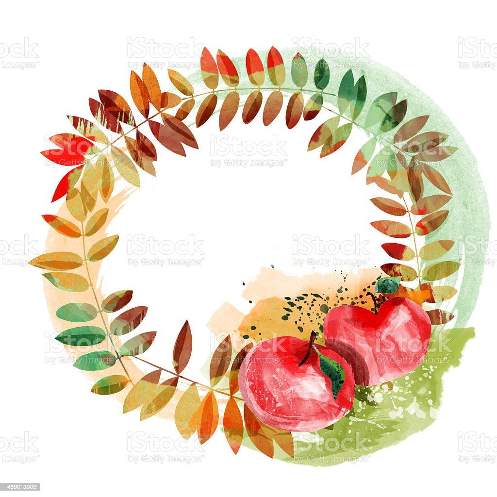 秋の落ち葉フレーム のイラスト素材 489013506 | istock