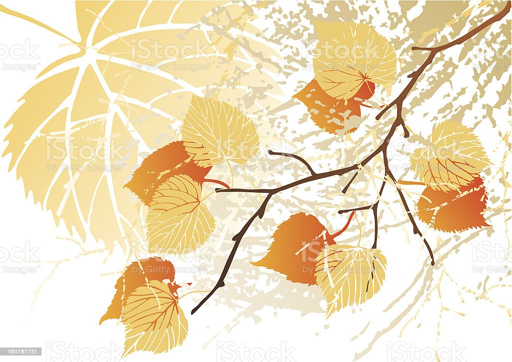Autumn september grunge leaves royalty-free stock vector art