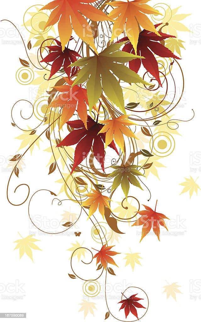 Autumn Swirls vector art illustration