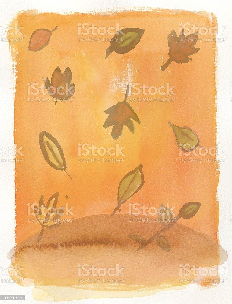 Autumn texture vector art illustration