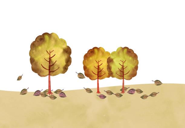 illustrazioni stock, clip art, cartoni animati e icone di tendenza di autumn trees - forest bathing