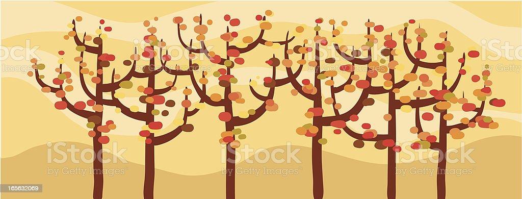 Autumn Trees royalty-free stock vector art