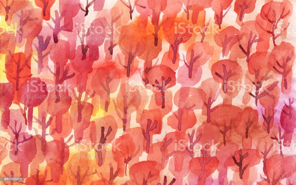 Autumn trees pattern royalty-free autumn trees pattern stock vector art & more images of autumn