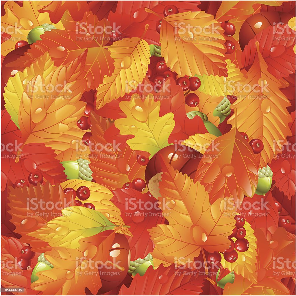Autumnal seamless background royalty-free stock vector art