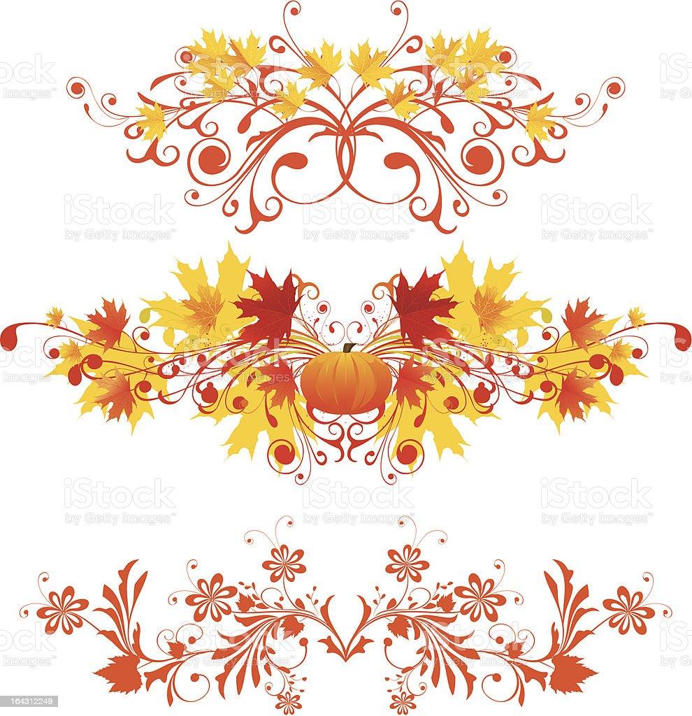Autumnal vignette royalty-free stock vector art